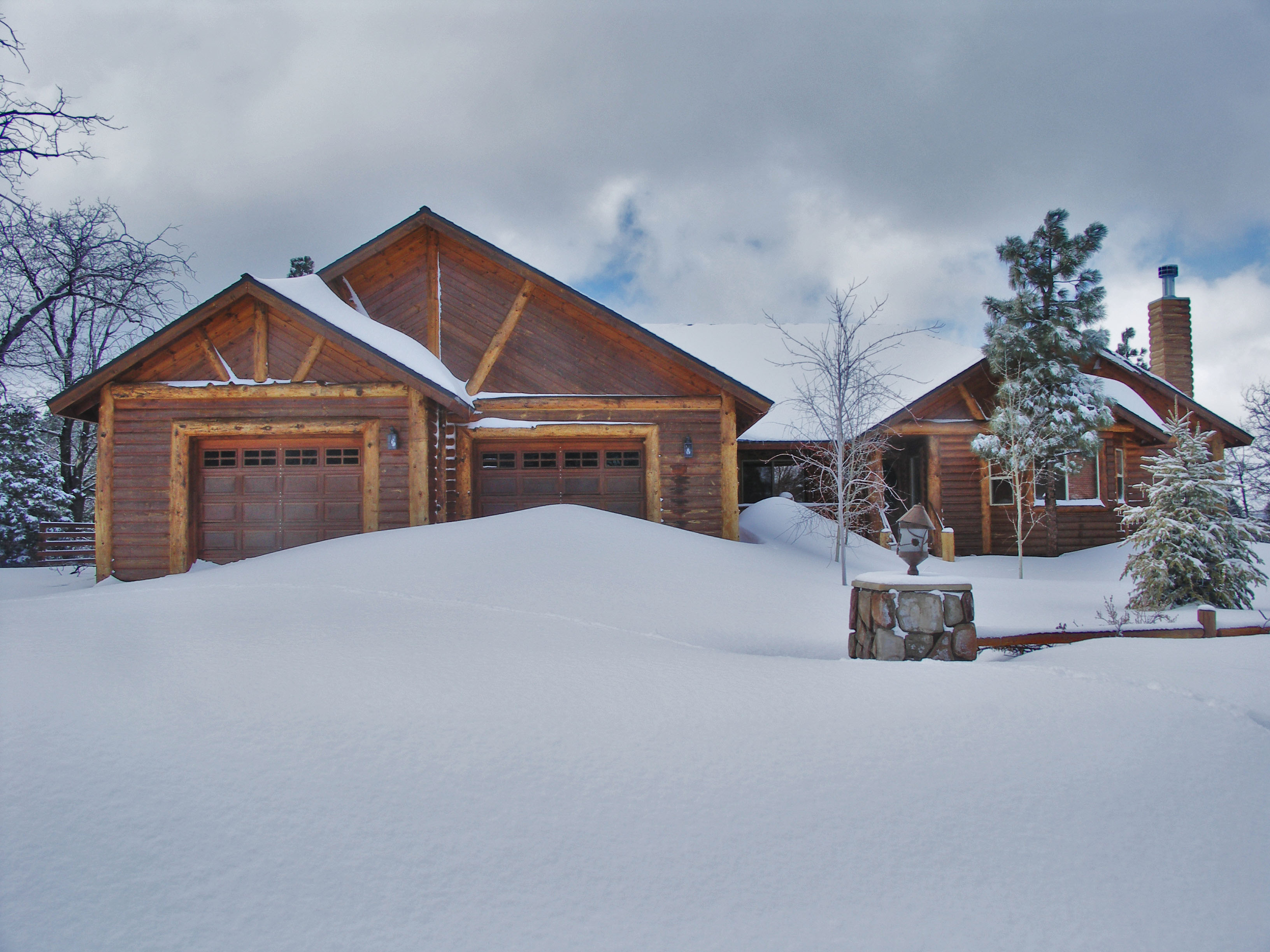 Home in High Timber Ranch with LOTS OF SNOW!